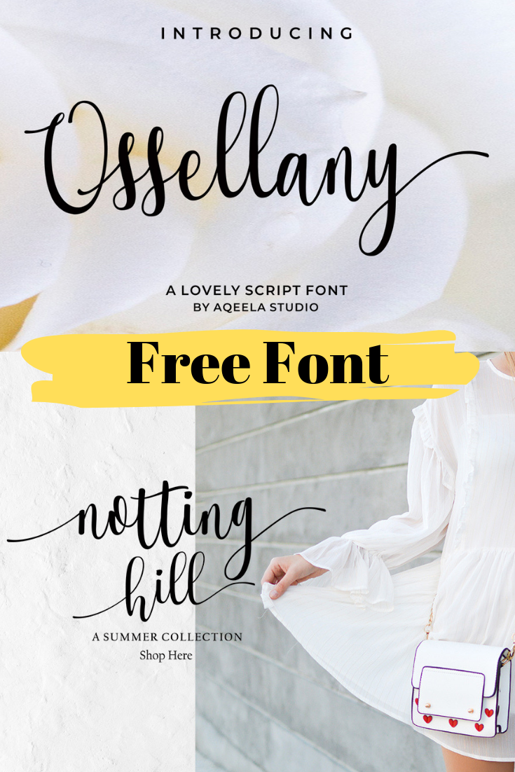 Ossellany Script is a modern calligraphy font with an