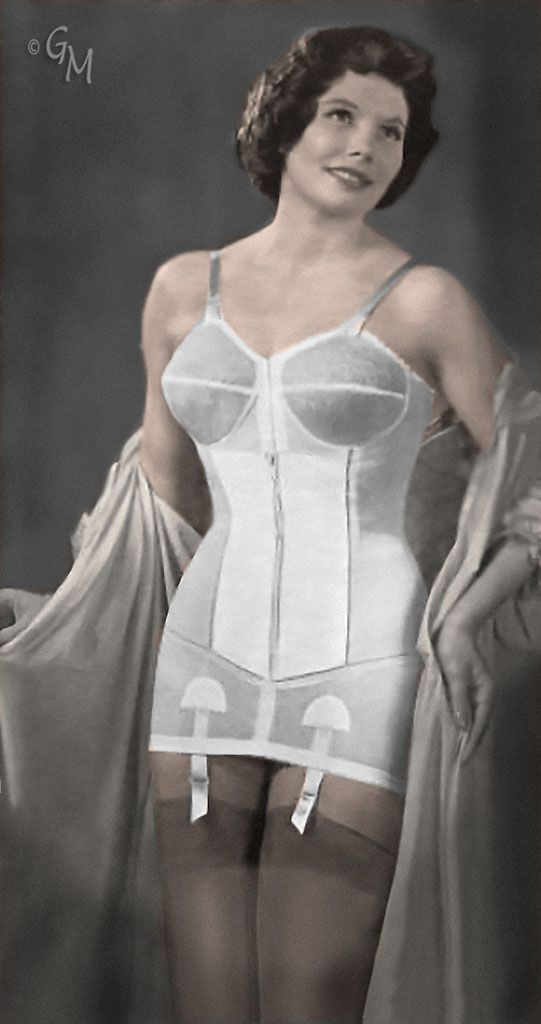 d5a06c2a7d359 Open bottom longline girdle with waist cincher. New reproduction ...