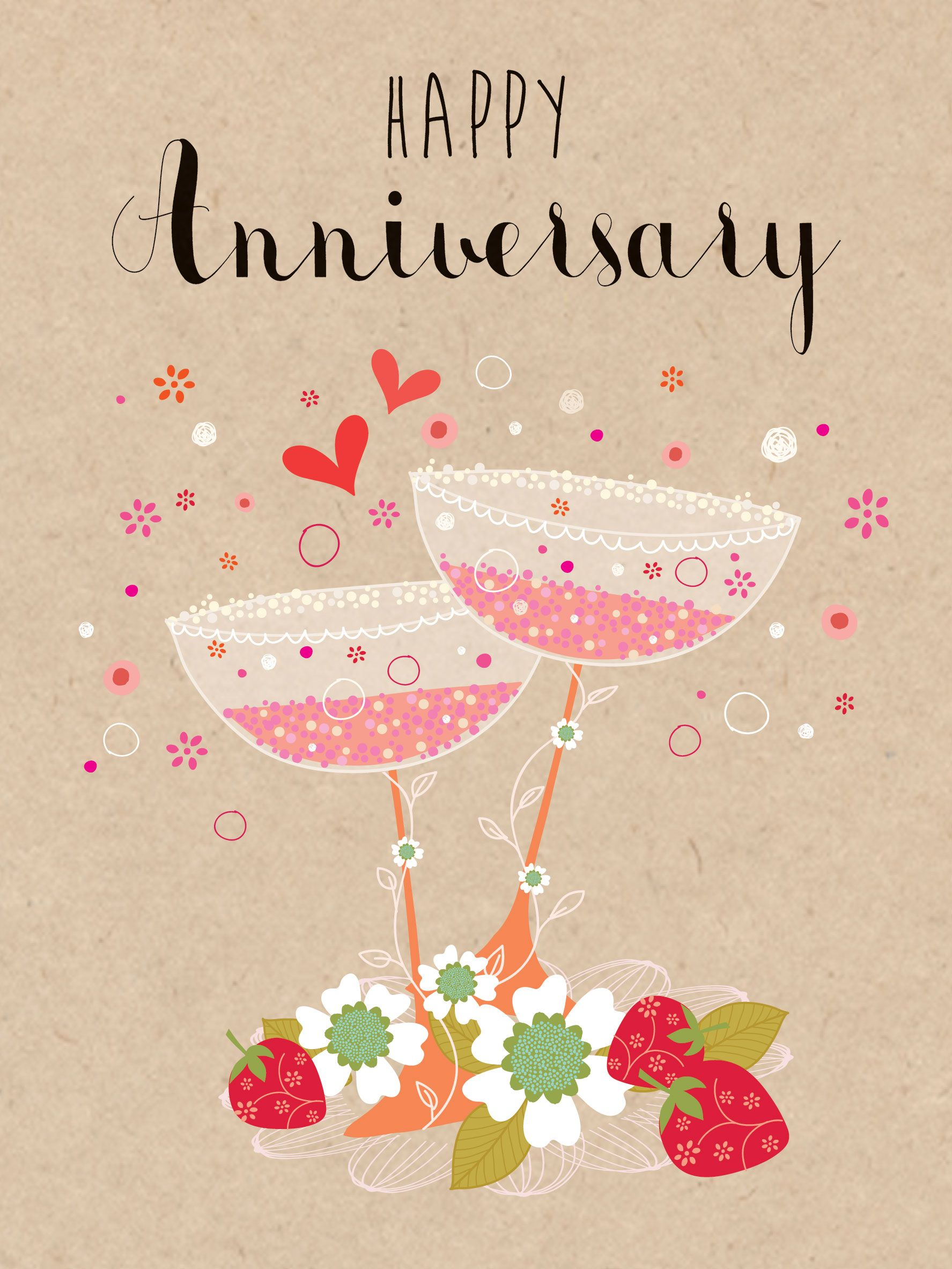 Happy Anniversary (W465) Anniversary Luxury Card by