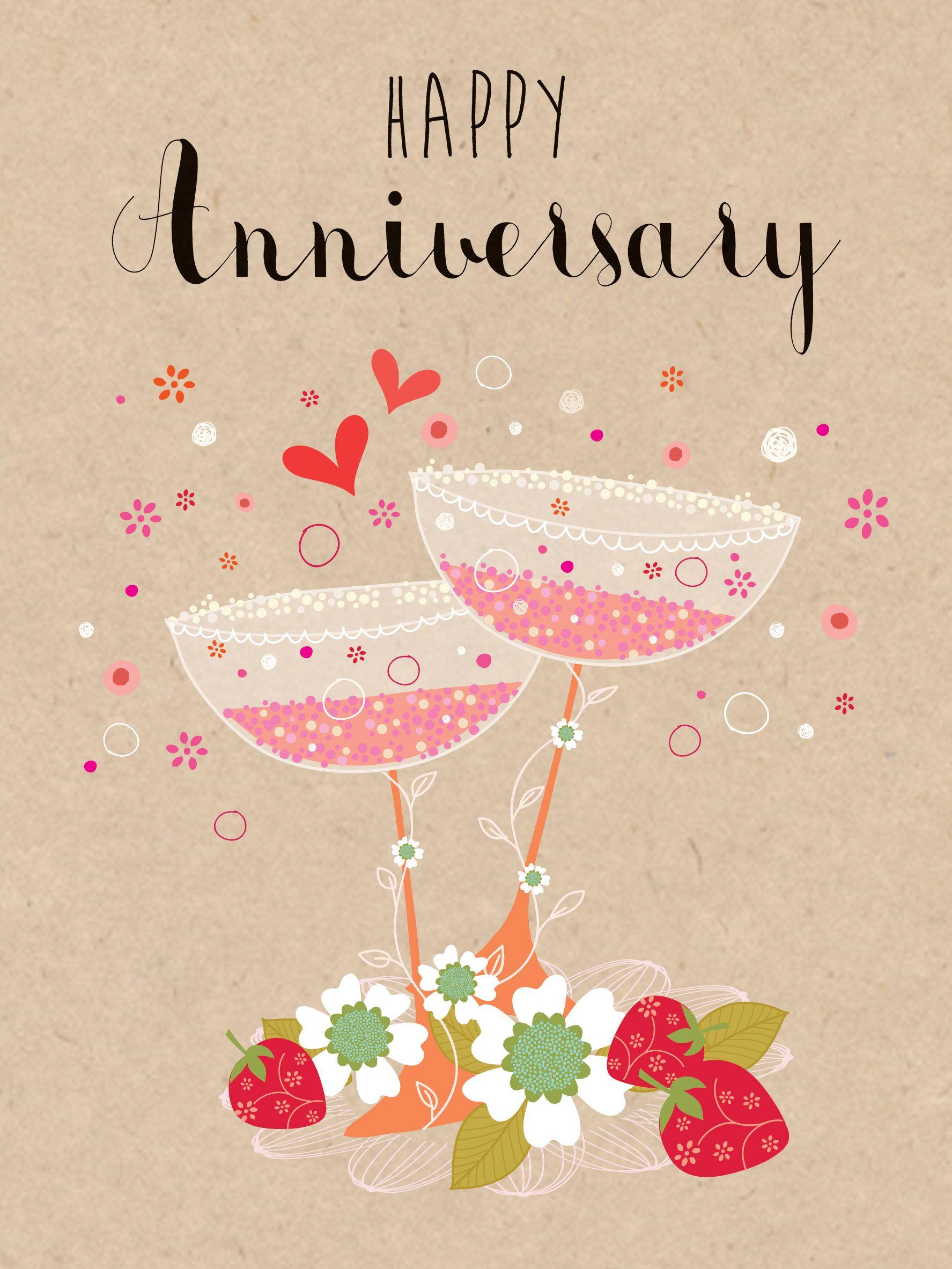 Happy Anniversary (W465) Anniversary Luxury Card by
