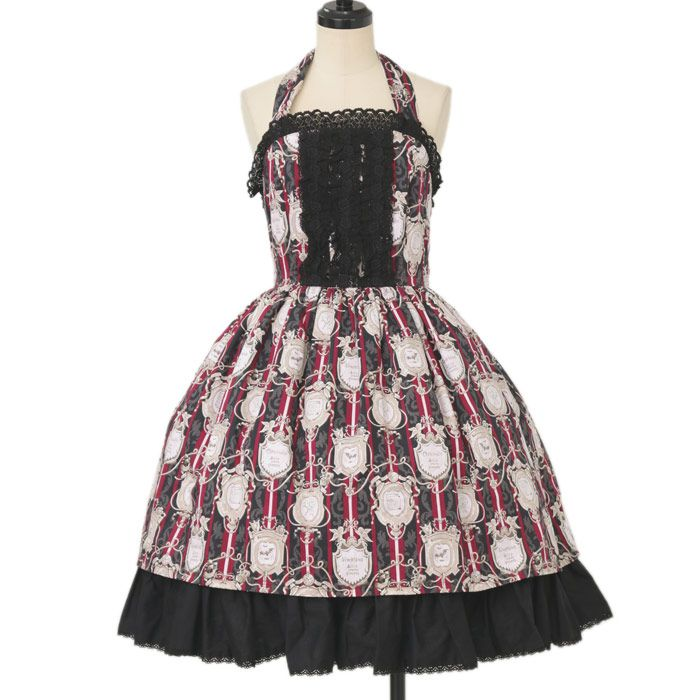 ♡ ALICE and the PIRATES ♡ Roses name pattern Halter jumper skirt http://www.wunderwelt.jp/products/detail12002.html ☆ ·.. · ° ☆ How to order ☆ ·.. · ° ☆ http://www.wunderwelt.jp/user_data/shoppingguide-eng ☆ ·.. · ☆ Japanese Vintage Lolita clothing shop Wunderwelt ☆ ·.. · ☆