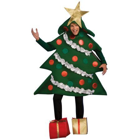 Mens Christmas Tree Costume Walmart Com In 2020 Tree Costume Christmas Tree Costume Funny Christmas Costumes