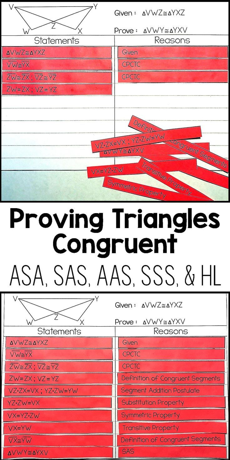 Proving Triangles Congruent Proof Activity – Proving Triangles Congruent Proofs Worksheet