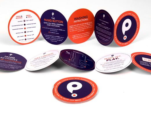 round shaped brochures
