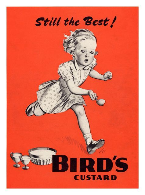 1920/'s Birds Custard Advertisement Poster  A3 Reprint