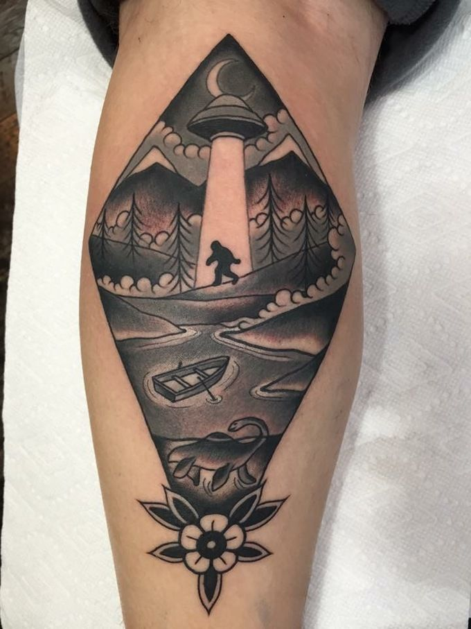 The most awesome images on the internet scapegoat loch for Monster tattoo designs