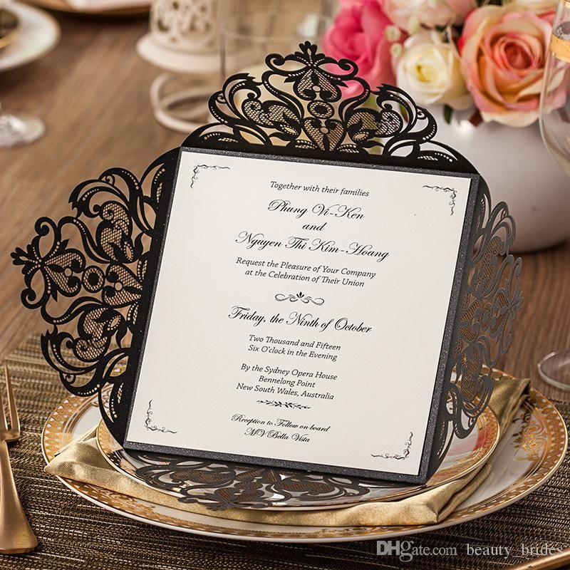 2015 New Wedding Supplies Laser Cut Wedding Invitations Blank Inner ...