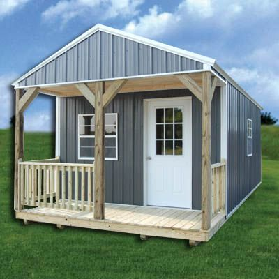 Z Metal Derksen Metal Cabin Portable Buildings Shed Homes Tiny House Cabin