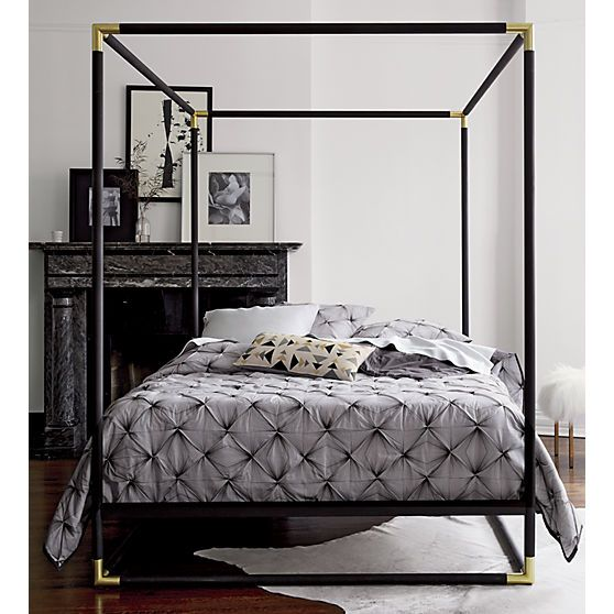 Best Frame Black Metal Canopy Bed Modern Canopy Bed Canopy 640 x 480