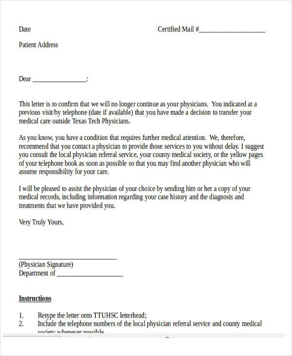medical appointment confirmation letter sample related for - previous employment verification letter
