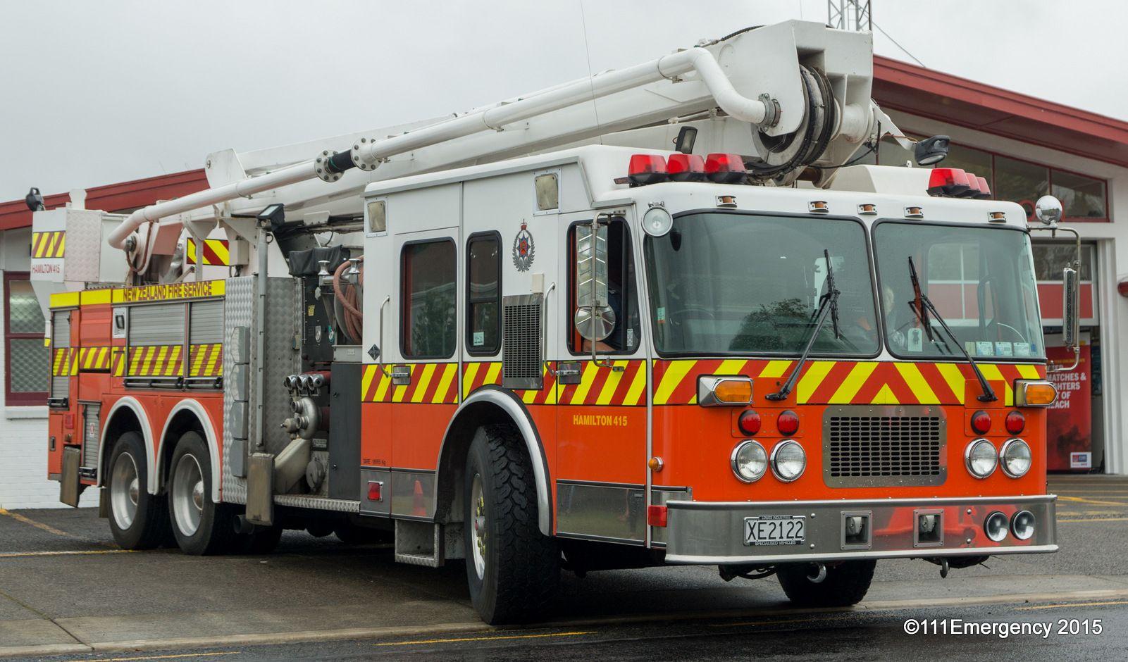 New zealand fire service hamilton 415 fire trucks fire