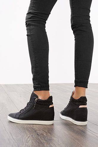 plus de photos offre spéciale code promo Esprit / Tennis compensées tendance | Chaussures | Adidas ...
