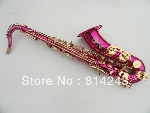 387.60$  Buy now - http://aliukg.shopchina.info/go.php?t=796550204 - France Henri Selmer Bb Tenor Saxophone Instruments Reference 36 Drop B Saxophone Surface Gold Lacquer Pink Body Professional Sax 387.60$ #aliexpress