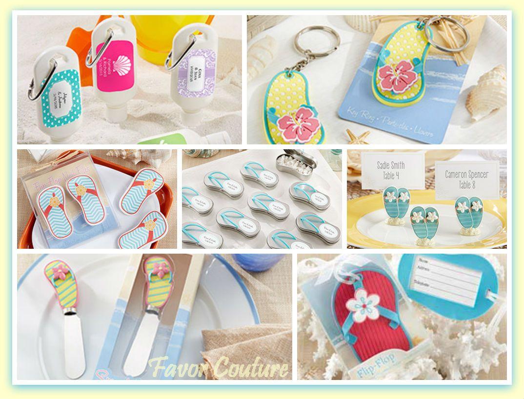 Beach Theme Wedding Favor Ideas ... Say thank you with summery ...