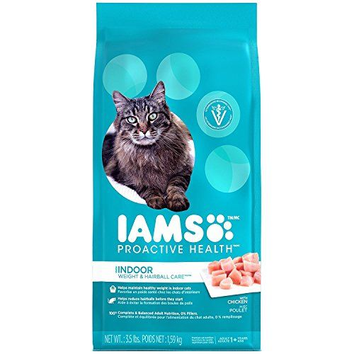 Iams Proactive Health Indoor Weight And Hairball Care Dry Cat Food 3 5 Pounds Cats Food To View Cat Food Reviews Best Cat Food Cat Food Brands