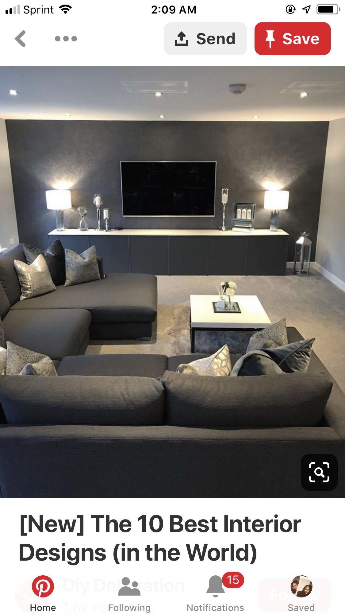 Pin by Maggali Laurent on Home Decor & DIYs  Home cinema room