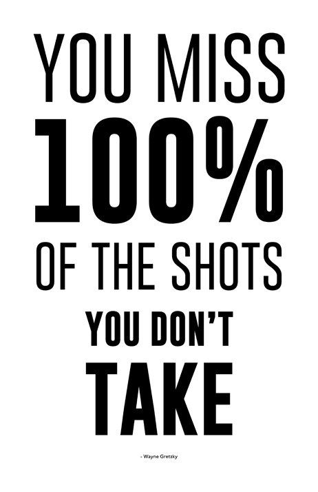 Image result for you miss 100 of the shots you never take