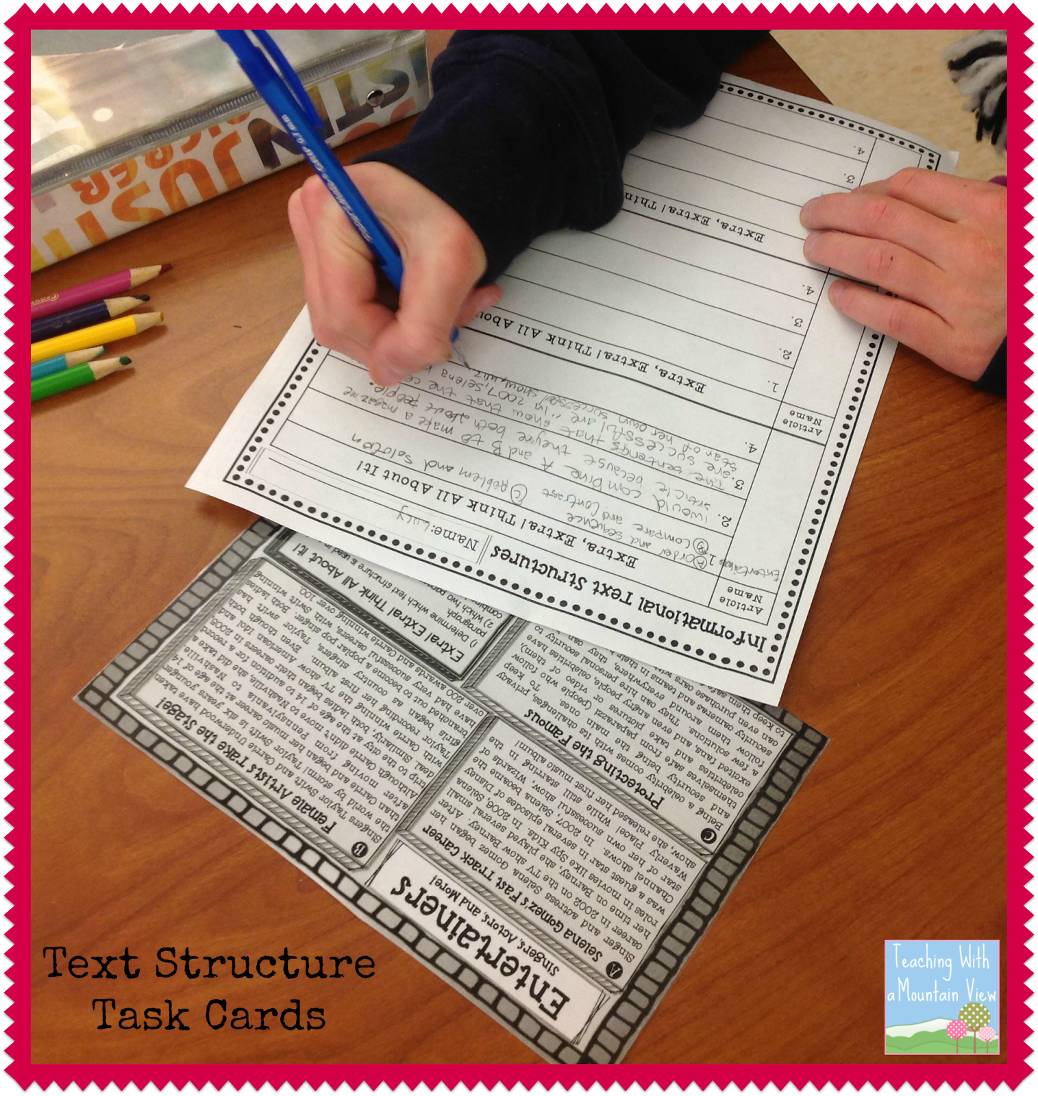 Informational Text Structures Reading Lessons