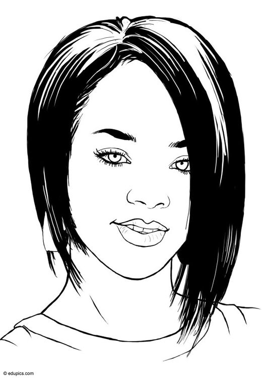 Dibujo para colorear Rihanna | rihanna | Pinterest | Colorear ...
