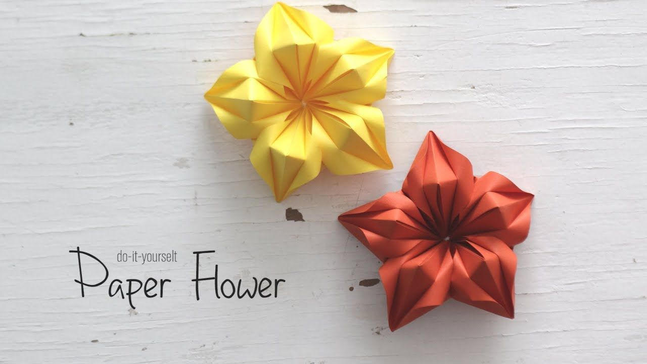 Diy Paper Flower Youtube Cards N Paper Pinterest Diy Paper