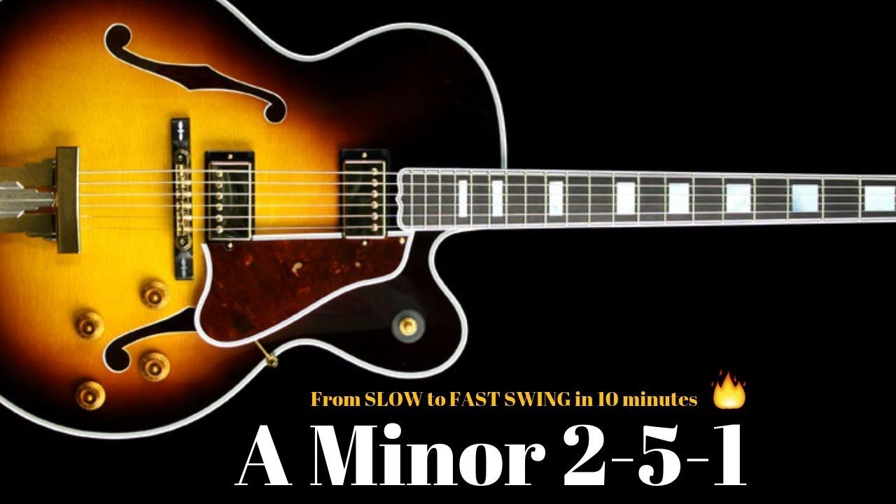 A Minor 251 Jazz Practice Backing Track // Slow Medium