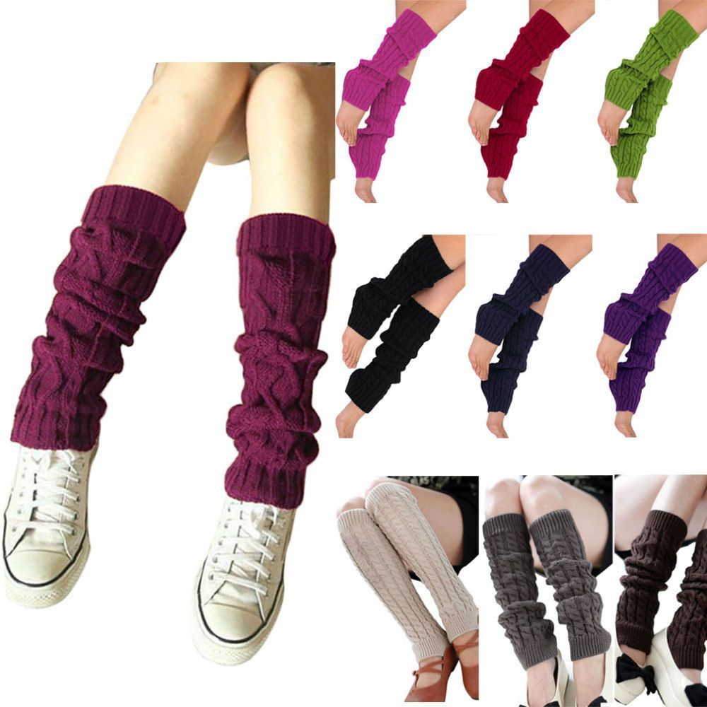 Ladies winter knit crochet leg warmers knee socks color fashion ladies winter knit crochet leg warmers bankloansurffo Image collections