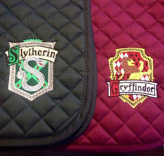 Harry Potter House Crest Embroidered Saddle Pad Gryffindor
