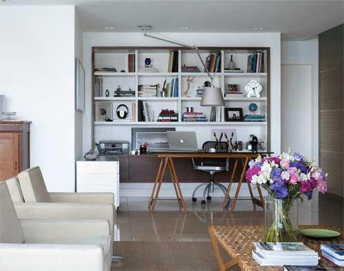 Home Offices Galeria De Fotos Com 154 Ambientes Bonitos E Funcionais Office Decorations Small Places And Living Rooms