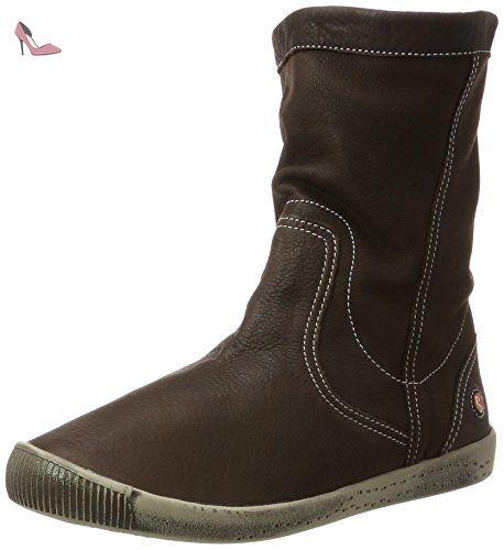 Softinos Iggy269sof Smooth, Bottes à enfiler femme - marron - Marron foncé,  - Chaussures