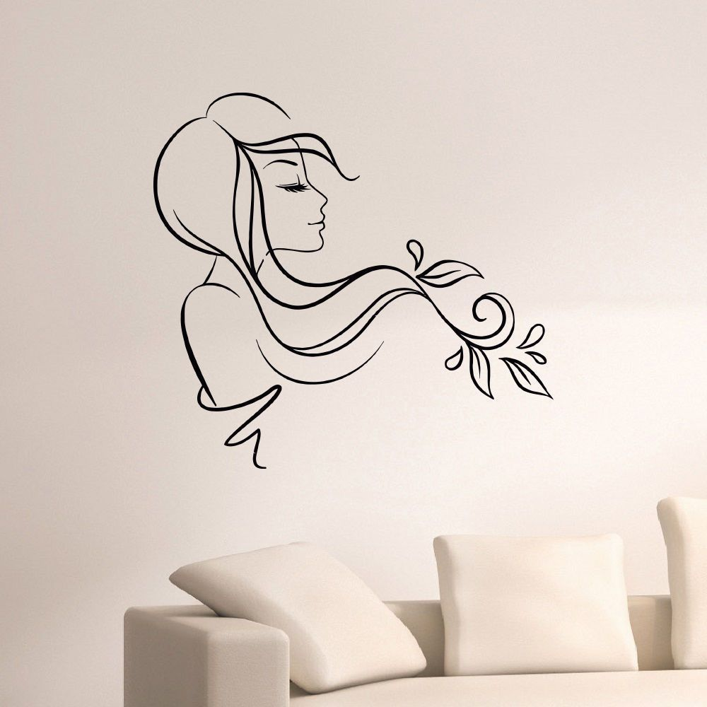 beauty hair salon decor vinyl wall art decal sticker. Black Bedroom Furniture Sets. Home Design Ideas