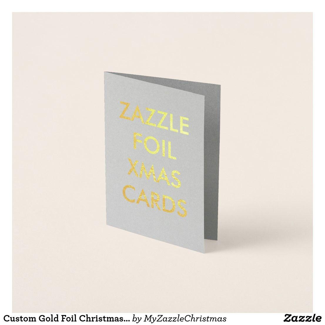 Gold Foil Christmas Card