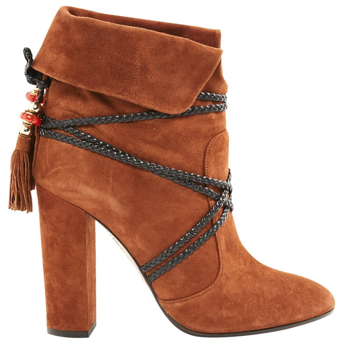 Aquazzura n Brown Suede Ankle Boots | Brown suede ankle