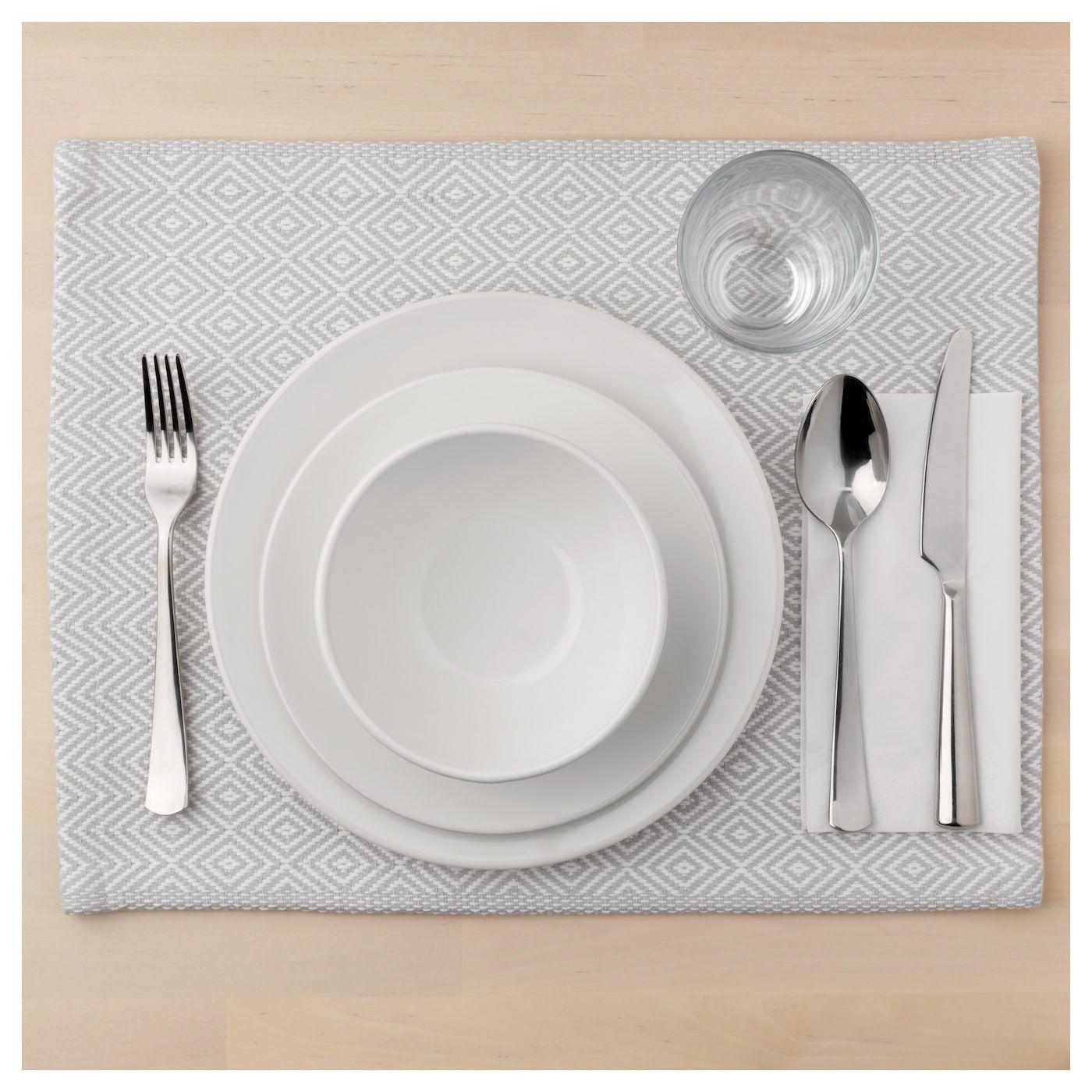 Goddag Tischset Grau Weiss 35x45 Cm Ikea Osterreich Cutlery Set Stainless Steel Cutlery Set Placemats