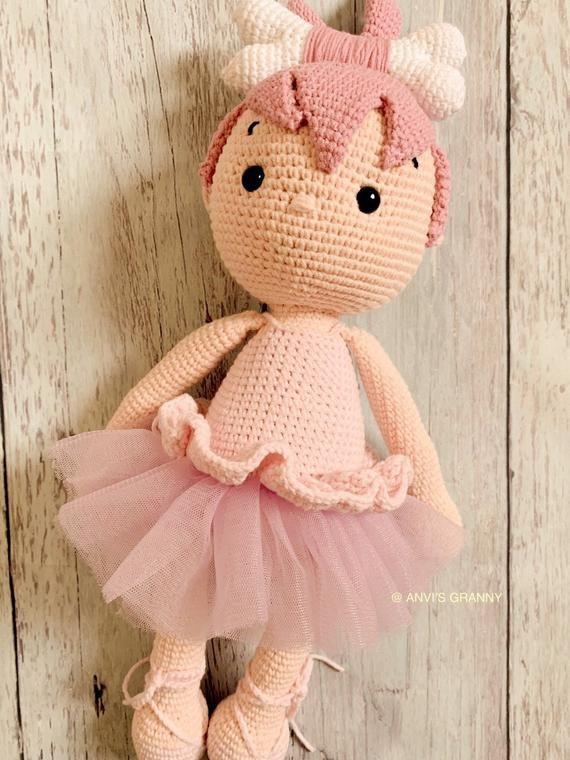 CROCHET PATTERN - Combo P01-02 - 2 ballerina dolls, amigurumi doll, step by step tutorial PDF file #instructionstodollpatterns