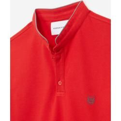 Photo of The Kooples – Rotes Slim-Fit-Poloshirt mit Offizierskragen – Damenthekooples.com