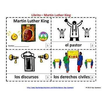 Martin Luther King Booklets - Spanish Libritos Martin Luther King ...