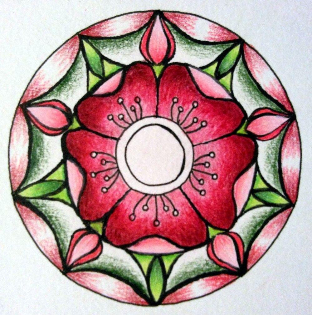 8-29-2015 Rose Mandala Illo 6 Overlapped Colors | Coloring ...