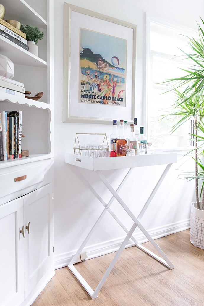 Beachy Meets Boho In This California Home Bungalow Dining RoomDining RoomsBar StandWhite