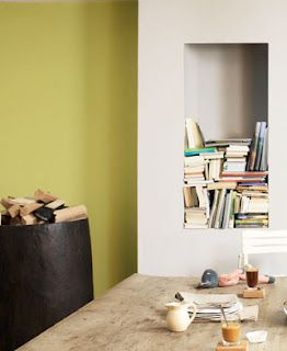 Using what you have already, i.e. books is a great way to show individual interior style.
