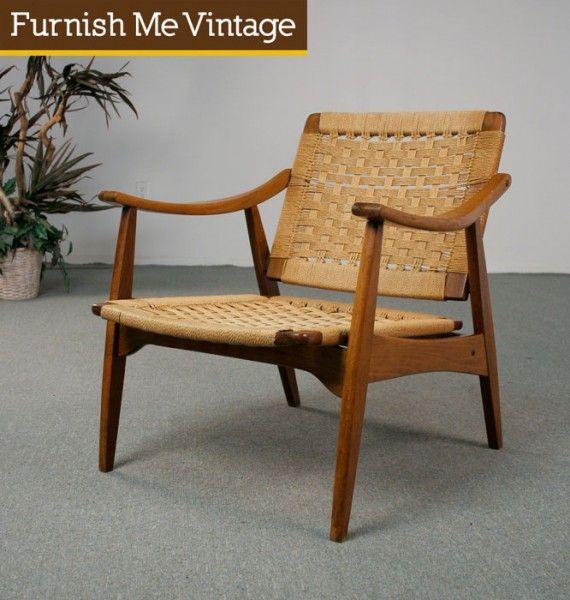 Mid Century Modern Tilt Back Rope Lounge Chair Chair Lounge Chair Mid Century Modern