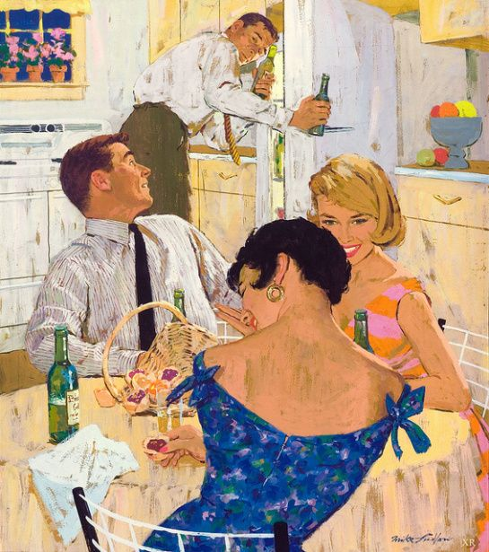 Drinks in the kitchen