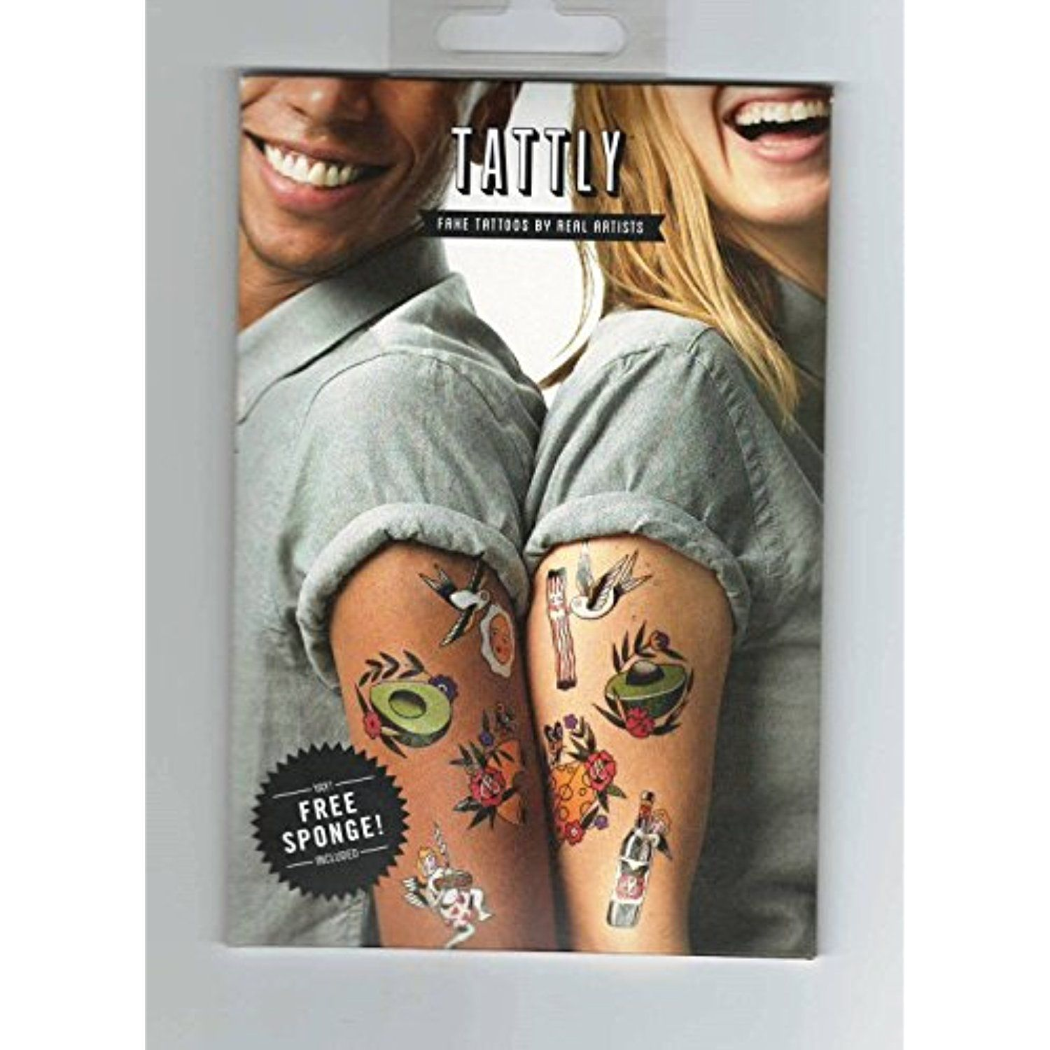 Tattly Things That Go Together Temporary Tattoo Set Fake
