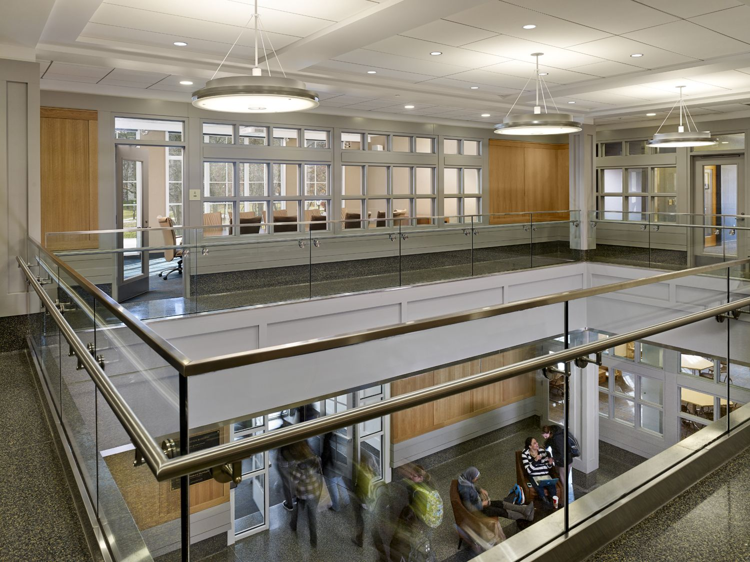 The College of New Jersey School of Business Architecture Interior