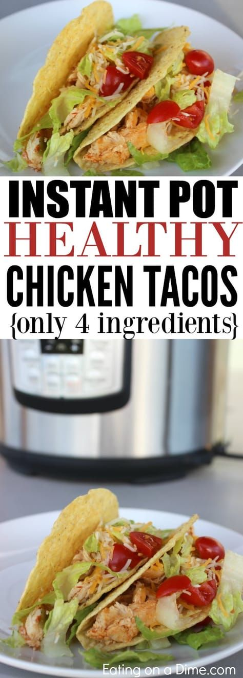 Healthy Chicken Tacos Pressure Cooker images
