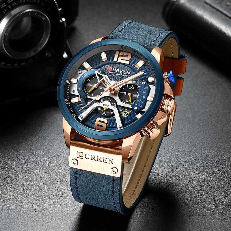 Estupendo Curren Relojes De Marca De Abundancia Para Hombre Relojes Deportivos Analogicos De Cuero En 2020 Reloj De Pulsera De Cuero Relojes Deportivos Reloj De Hombre