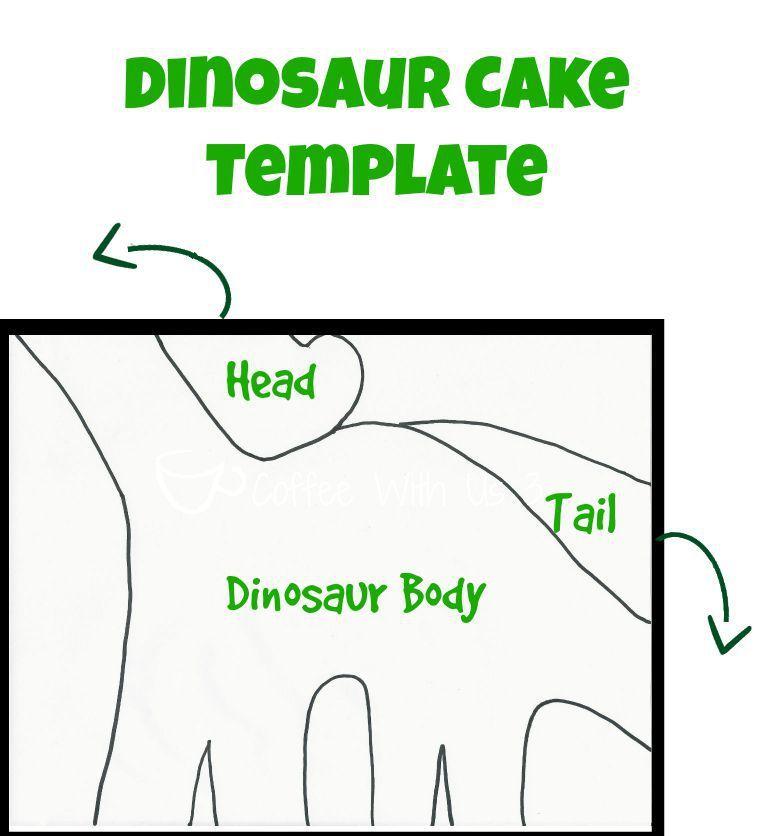 Dinosaur cake template olivers 4 pinterest cake templates dinosaur cake template pronofoot35fo Choice Image