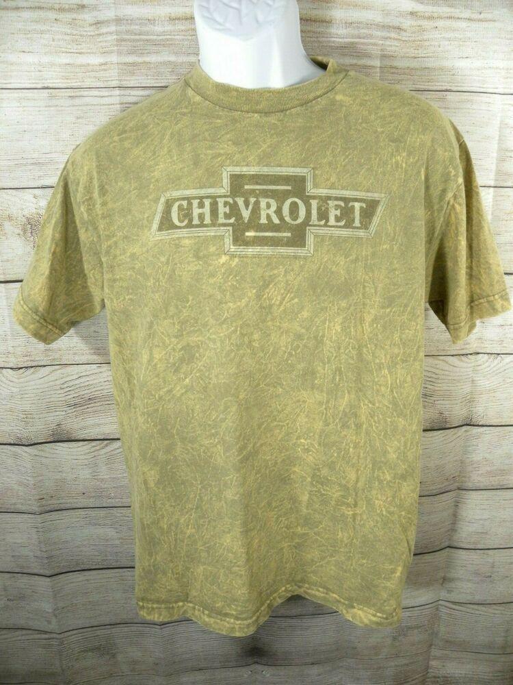 Vintage Mens Medium T Shirt Chevrolet Logo Chevy Automotive Brown Car Truck Aaa Graphictee Polo T Shirts Shirts