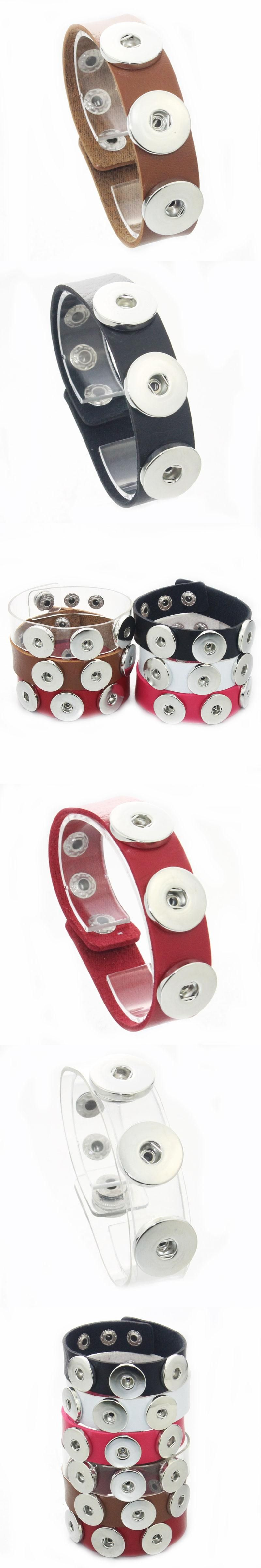 Cm leather bracelet snap button snap bracelet for women wrap charm