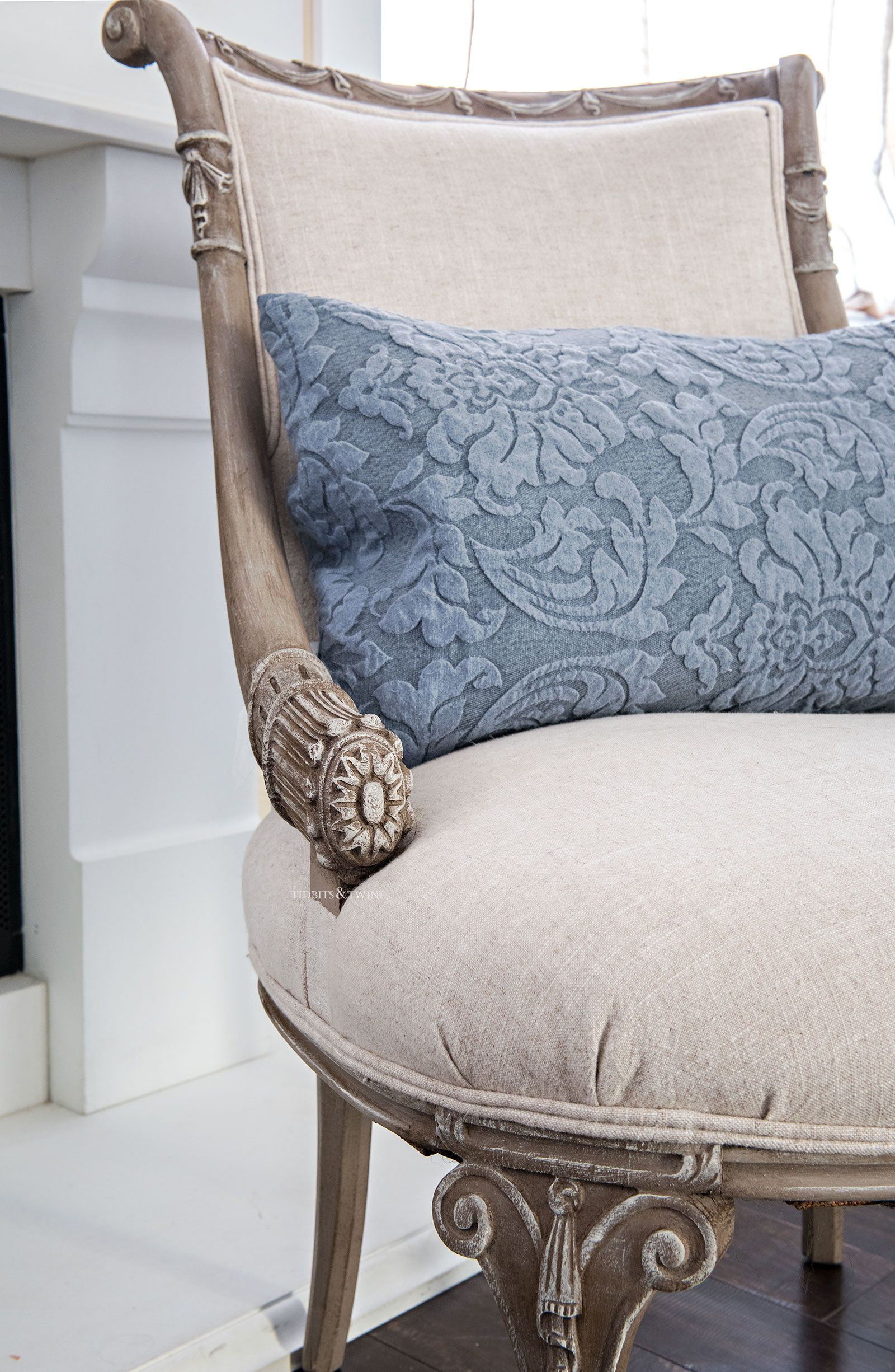 Antique Chair Makeover Reveal