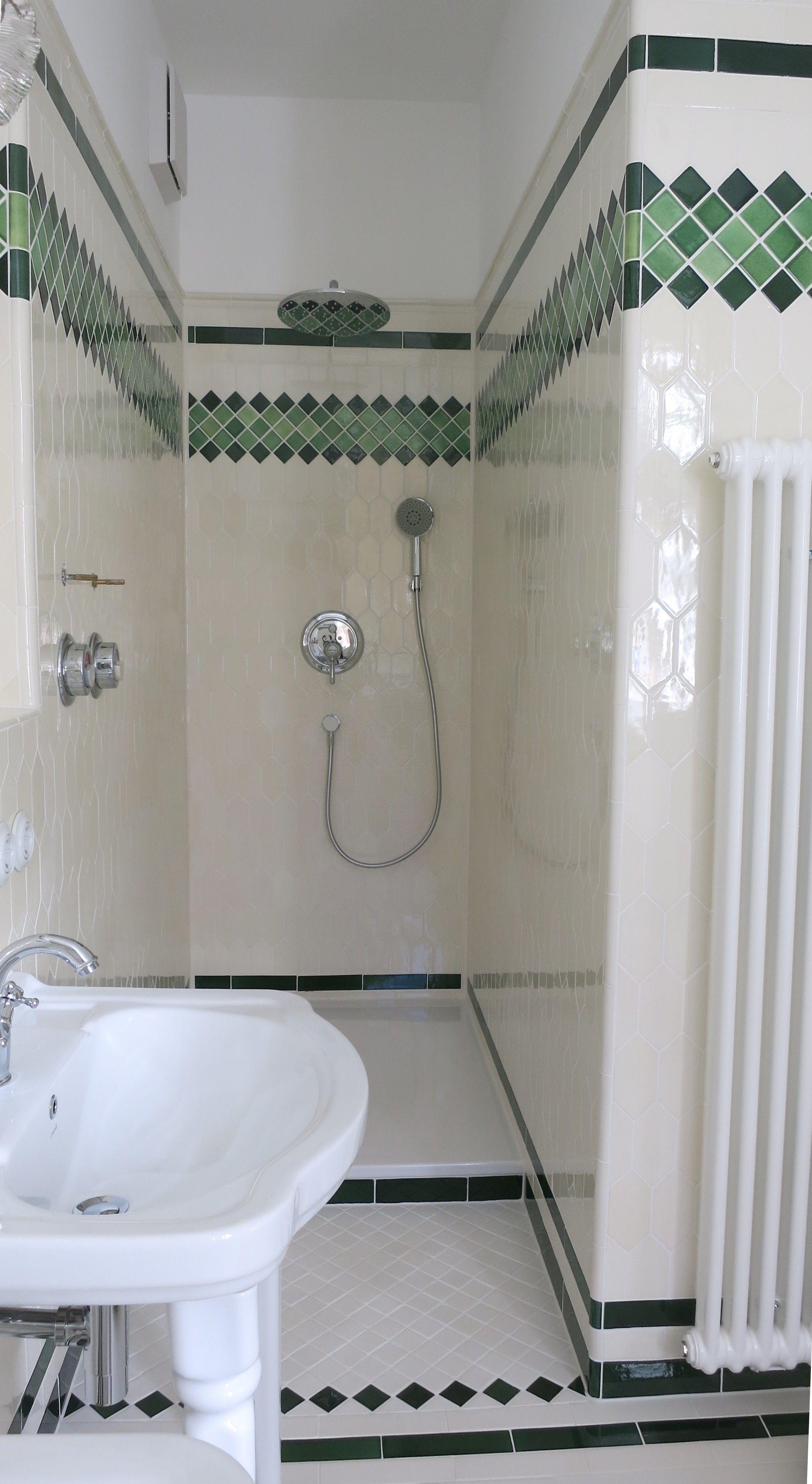 douche salle de bain art deco style